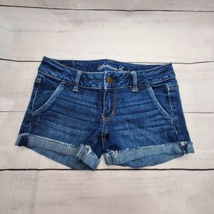 AEO Stretch Roll Up Jean Short